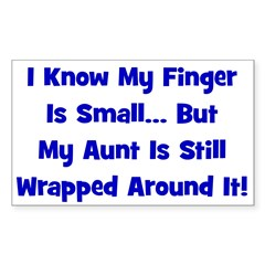 Aunt Wrapped Around Finger - Rectangle Decal