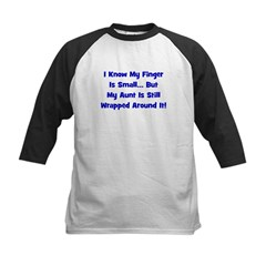 Aunt Wrapped Around Finger - Kids Baseball Jersey