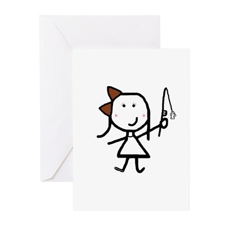 Girl & Fish Greeting Cards (Pk of 10)