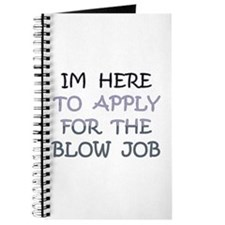 APPLY 4 BLOWJOB/BLACK-BLUE Journal