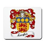 Langlois Family Crest Mousepad