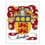 Langlois Family Crest Small Poster