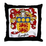 Langlois Family Crest Throw Pillow