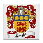 Langlois Family Crest Tile Coaster