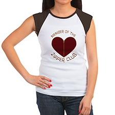 Zipper Club Women's Cap Sleeve T-Shirt