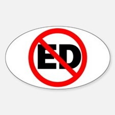 No ED Oval Decal