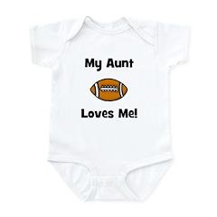 My Aunt Loves Me! Football Infant Bodysuit