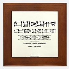 I Speak Sumerian Framed Tile