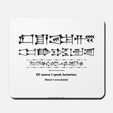 I Speak Sumerian Mousepad