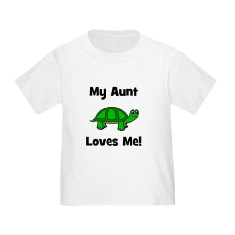 My Aunt Loves Me! Turtle Toddler T-Shirt