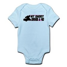 My Daddy Drives a 410 - Pink Infant Bodysuit