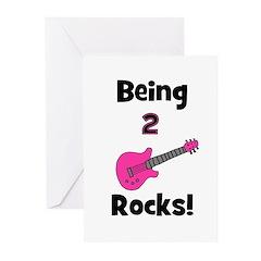 Being 2 Rocks! pink Greeting Cards (Pk of 10)