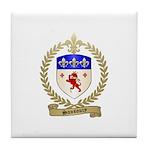 SANSOUCY Family Crest Tile Coaster