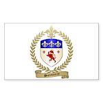 SANSOUCY Family Crest Rectangle Sticker 10 pk)