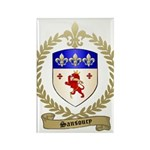 SANSOUCY Family Crest Rectangle Magnet (100 pack)