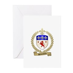 SANSOUCY Family Crest Greeting Cards (Pk of 20)