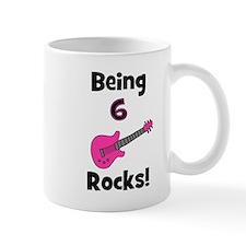 Being 6 Rocks! pink Mug