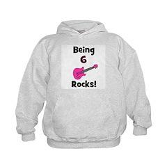 Being 6 Rocks! pink Hoodie