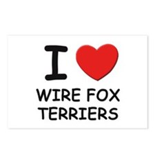 I love WIRE FOX TERRIERS Postcards (Package of 8)