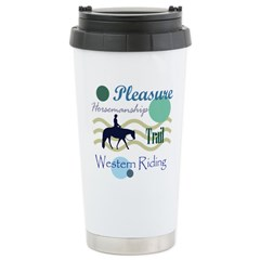 Western All Around in Blue Travel Mug