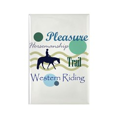 Western All Around in Blue Rectangle Magnet