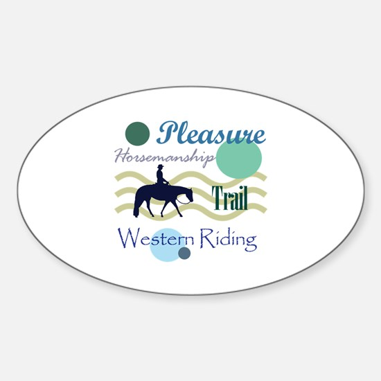 Western All Around in Blue Oval Decal