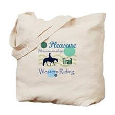 Western All Around in Blue Tote Bag