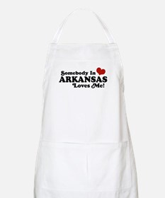 Somebody in Arkansas Loves me BBQ Apron