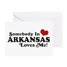 Somebody in Arkansas Loves me Greeting Cards (Pk o