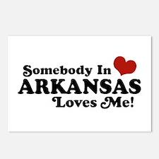 Somebody in Arkansas Loves me Postcards (Package o