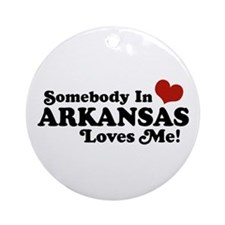 Somebody in Arkansas Loves me Ornament (Round)