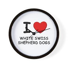 I love WHITE SWISS SHEPHERD DOGS Wall Clock