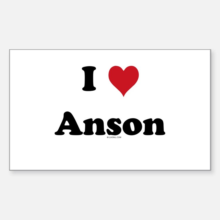 I love Anson Rectangle Decal