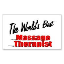 """The World's Best Massage Therapist"" Decal"