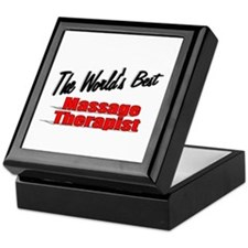 """The World's Best Massage Therapist"" Keepsake Box"