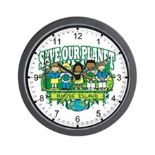 Earth Kids Rhode Island Wall Clock