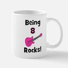 Being 8 Rocks! pink Mug