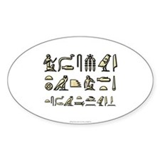 I Speak Egyptian Oval Decal