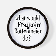 Fraulein Rottenmeier Wall Clock