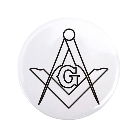"Masonic Square and Compass 3.5"" Button"