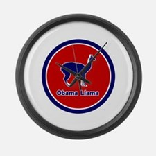 Obama Llama Large Wall Clock