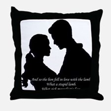 Lion Fell in Love Throw Pillow