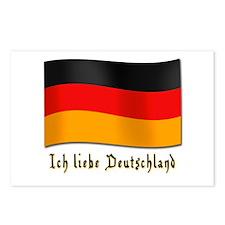 Ich liebe Deutschland Postcards (Package of 8)
