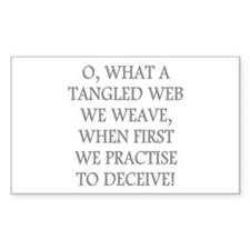 Tangled Web Rectangle Decal