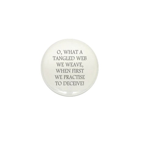Tangled Web Mini Button (10 pack)
