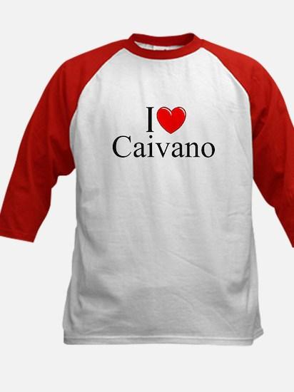 """I Love (Heart) Caivano"" Kids Baseball Jersey"