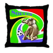 World Cut Soccer - Throw Pillow