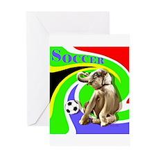World Cut Soccer - Greeting Card