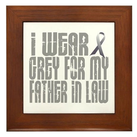 I Wear Grey For My Father-In-Law 16 Framed Tile