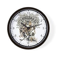 Eat, Sleep, Play Hockey Wall Clock